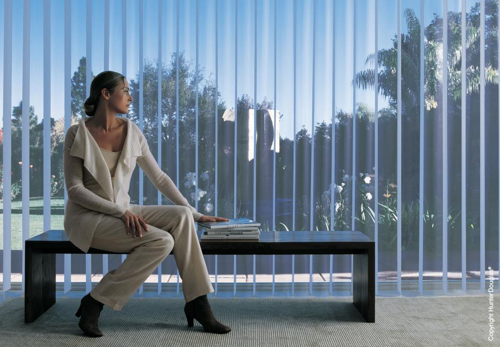 A cortina ideal para grandes janelas e vãos de passagem