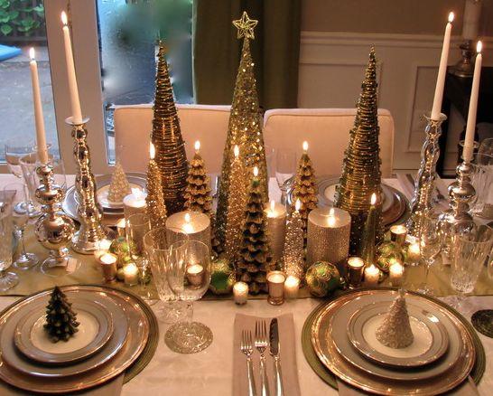 Ideias para decorar a mesa para a ceia ou almoço de Natal