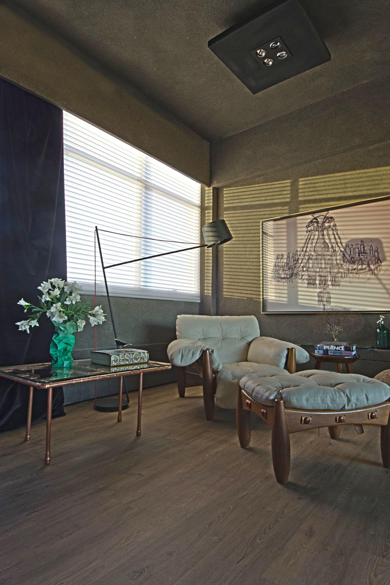 Design e sofisticação em escritório de arquitetura