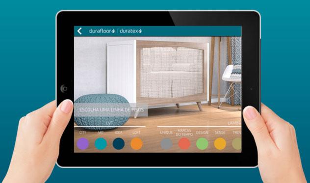 App para escolher o piso laminado