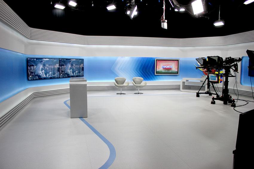 Ateliê Revestimentos fornece piso vinílico para estúdio da EPTV