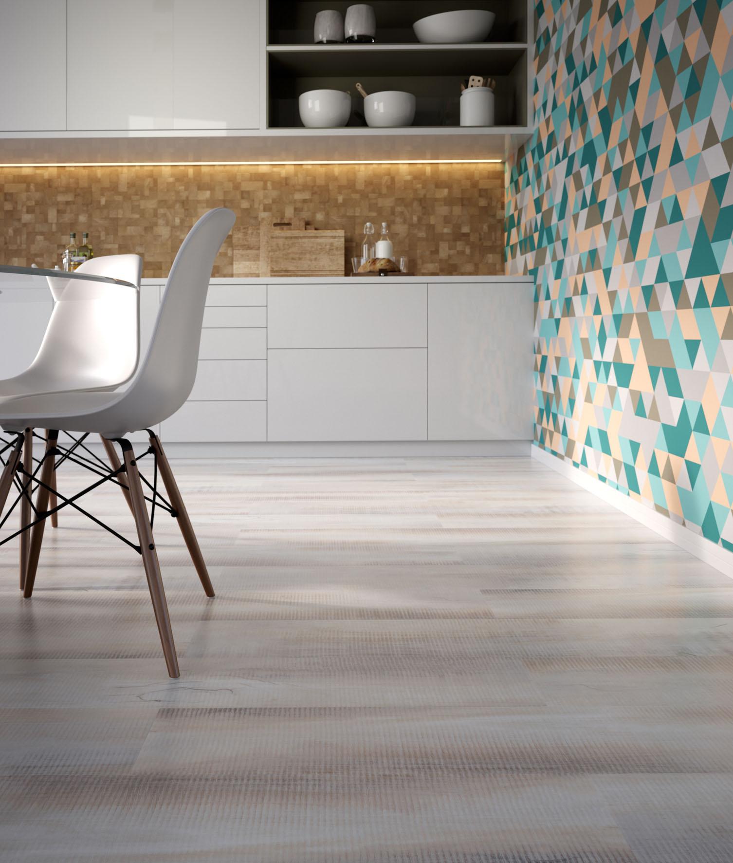 Ambientes decorados com pisos vinílicos e laminados em tons claros