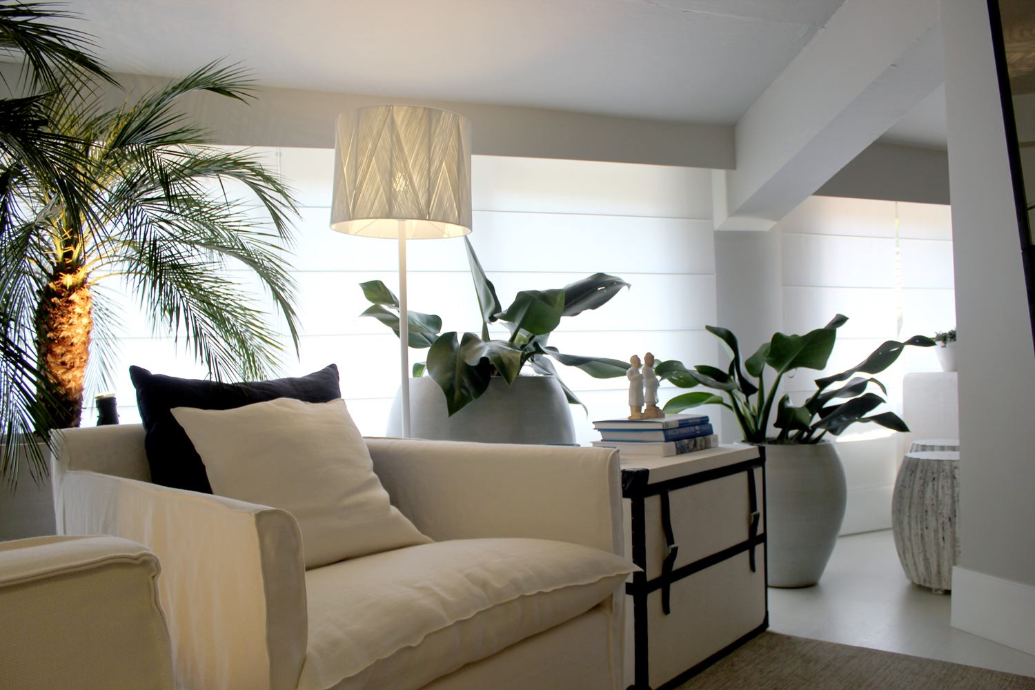 Elegância casual de St. Barth inspira Family Room
