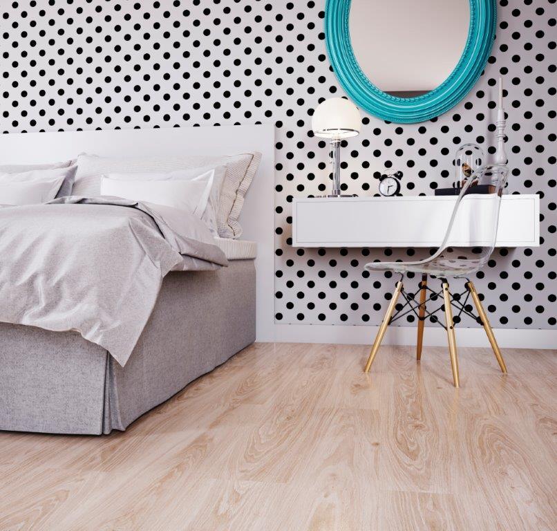 Pisos laminados que são puro conforto e beleza para o quarto
