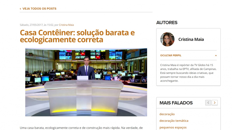 Ateliê Revestimentos e Solução Home no Jornal Hoje