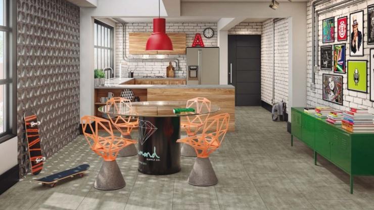 Tendência: pisos vinílicos e laminados em grandes formatos