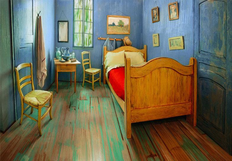 Quarto com decoração idêntica a pintura de Van Gogh pode ser alugado