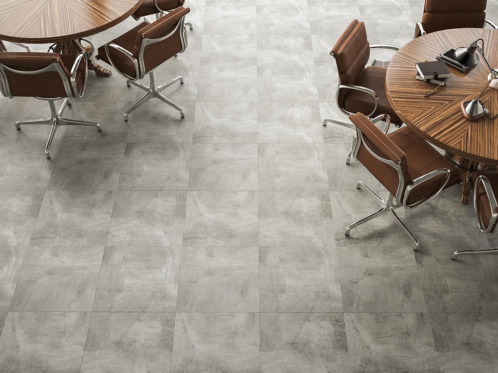 Lançamento: piso vinílico com visual moderno da pedra e do cimento