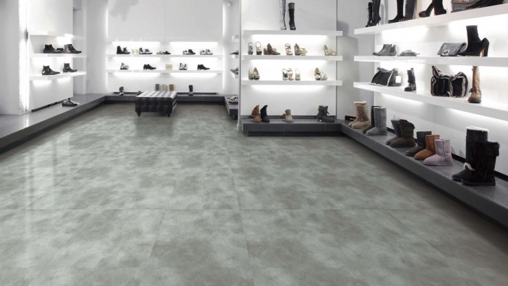 Mármore e cimento queimado inspiram nova coleção de pisos vinílicos